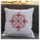 "Handmade cross-stitch pillow cover ""Design A"", Alsace"