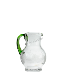 Glass wine jug 0,5L, hand cut