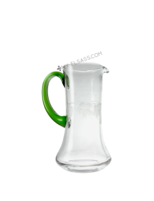 Glass wine jug Liesel 1L, hand cut