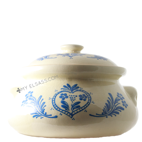 "Sauerkraut cooking-pot ""Blue"" - Soufflenheim, Alsace"