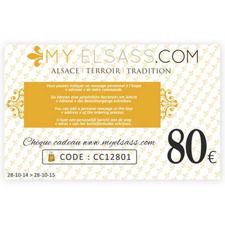 My Elsass gift card 80€