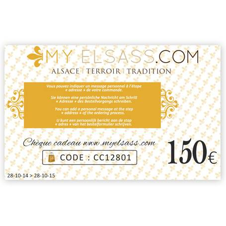 My Elsass gift card 150€