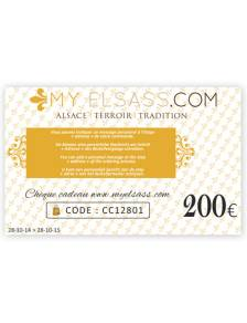 My Elsass gift card 200€