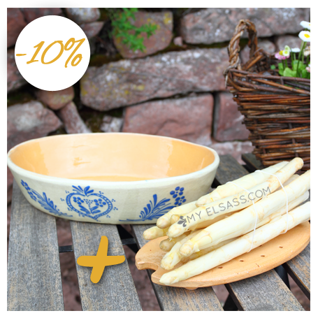 "Gift idea from Alsace - Asparagus set ""Blue"" - Elsass BOX"