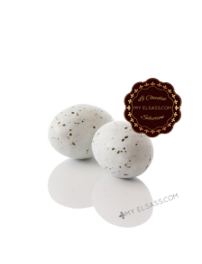 Stork's eggs of Alsace in chocolate