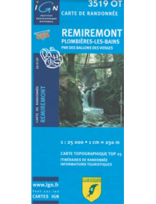 Carte de randonnée IGN - Remiremont - 3519OT