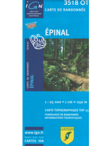 Hiking map France - Alsace - Epinal - 3518OT