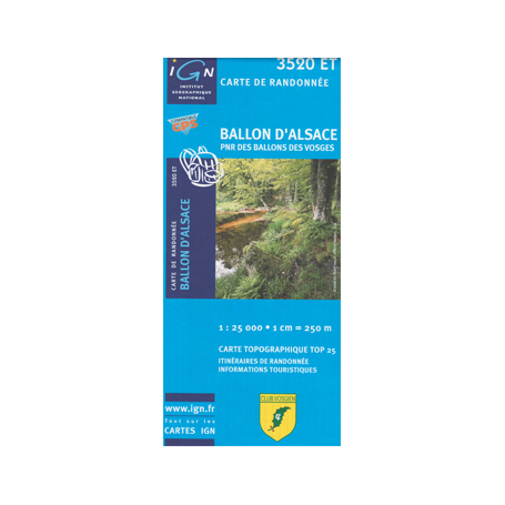 Hiking map France - Alsace - Ballon d'Alsace - 3520ET