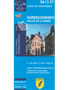 Hiking map France - Alsace - Sarreguemines - 3613ET