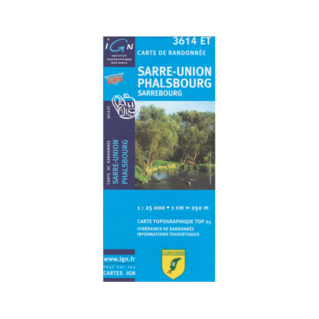 Hiking map France - Alsace - Sarre-Union - Phalsbourg - 3614ET