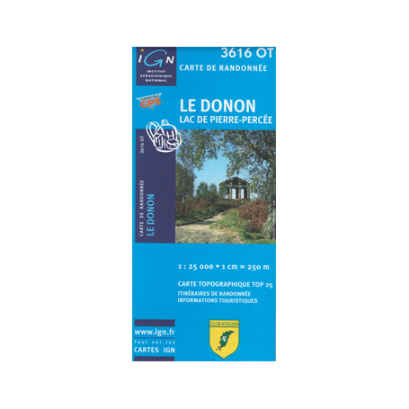 Hiking map France - Alsace - Le Donon - 3616OT