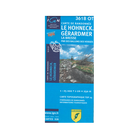 Hiking map France - Alsace - Le Hohneck - Gerardmer - 3618OT