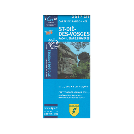 Hiking map France - Alsace - St-Dié-des-Vosges - 3617OT