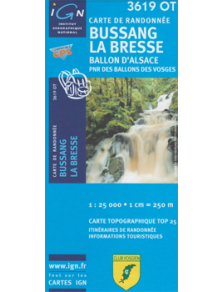 Hiking map France - Alsace - Bussang - La Bresse - 3619OT