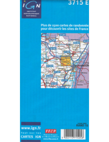 Hiking map France - Alsace - Wasselonne - 3715E