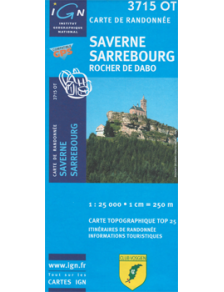 Hiking map France - Alsace - Saverne - Sarrebourg - 3715OT