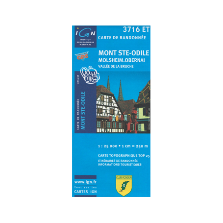 Hiking map France - Alsace - Mont Ste-Odile - 3716ET
