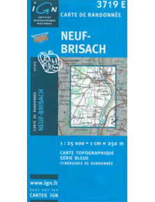 Hiking map France - Alsace - Neuf-Brisach - 3719E