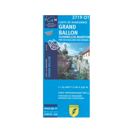 Hiking map France - Alsace - Grand Ballon - 3719OT
