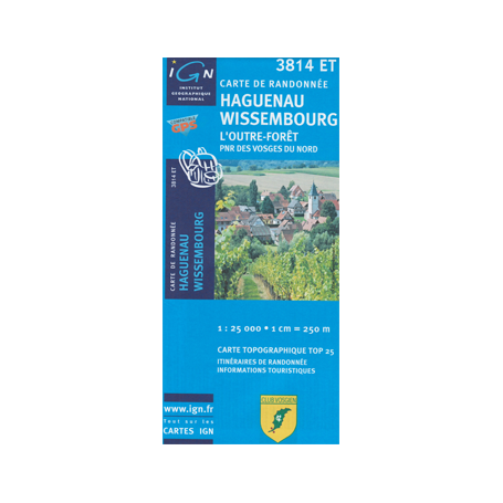 Hiking map France - Alsace - Haguenau - 3814ET