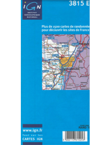Hiking map France - Alsace - Bischwiller - Brumath - 3815E