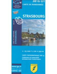 Hiking map France - Alsace - Strasbourg - 3816OT