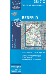 Hiking map France - Alsace - Benfeld - 3817O