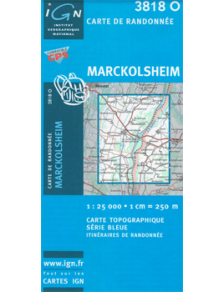 Hiking map France - Alsace - Marckolsheim - 3818O