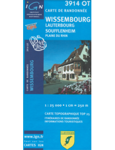 Hiking map France - Alsace - Wissembourg - 3914OT