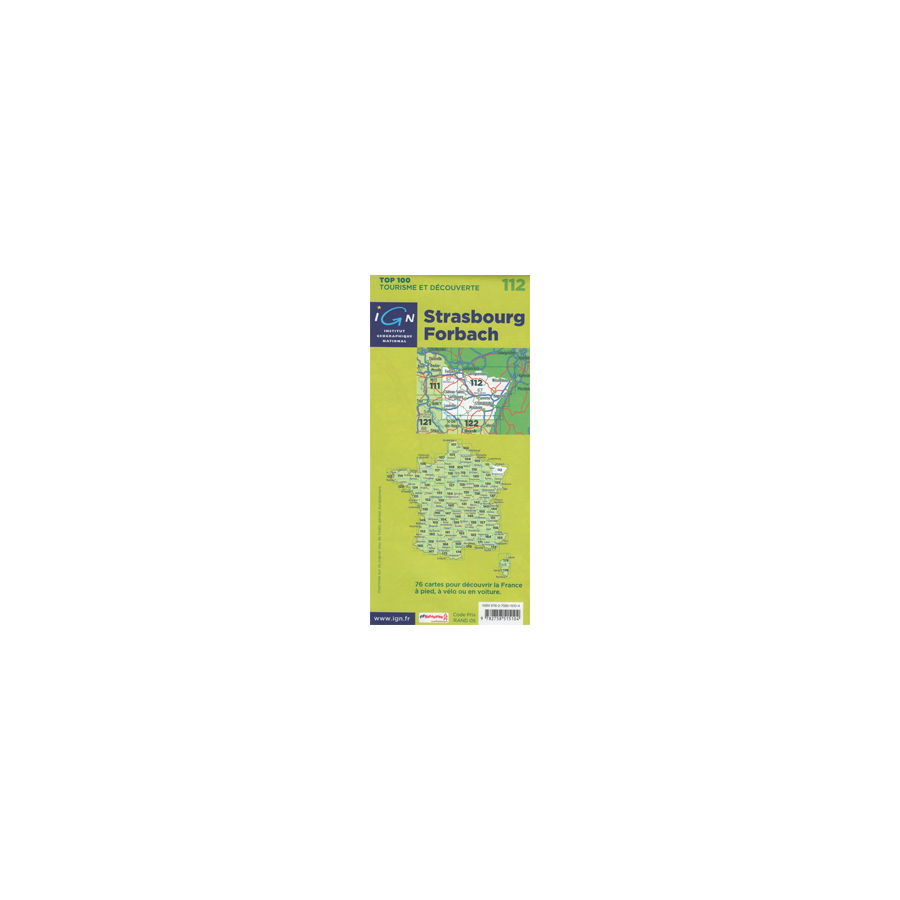 Discovery road hiking map France Alsace Strasbourg Forbach