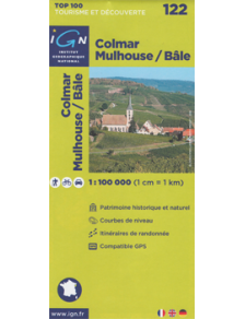 Discovery road & hiking map - France - Alsace - Colmar - Mulhouse - Bâle - 122