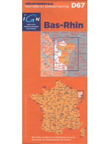 Road map - France - Alsace - Bas-Rhin - D67