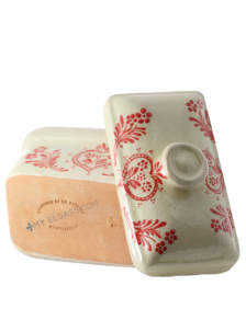 """Meatloaf terrine """"Red"""" - pottery Soufflenheim, Alsace"""