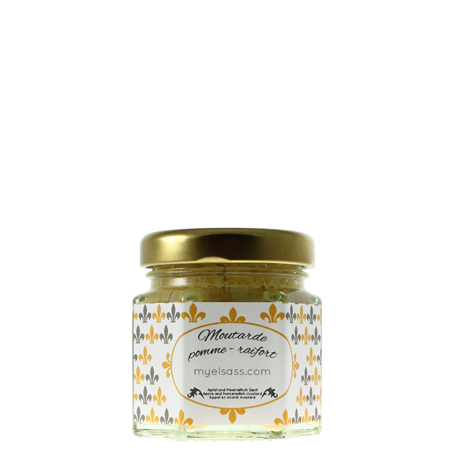 Apple and horseradish mustard from Alsace