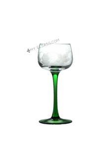 White wine glass, hand cut