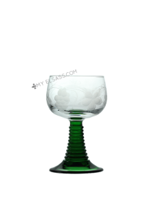 Roemer white wine glass, hand cut