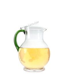 Glass wine jug 1L, hand cut