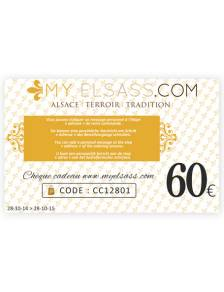 My Elsass gift card 60€