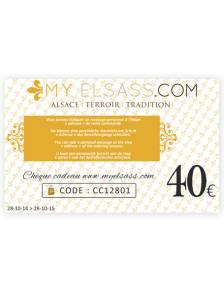 My Elsass gift card 40€