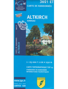 Hiking map France - Alsace - Altkirch - 3621ET