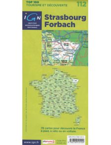 Discovery road & hiking map - France - Alsace - Strasbourg - Forbach - 112