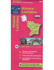 Travel & road map France - Alsace - Lorraine 2012