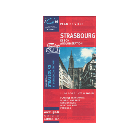 City map from Strasbourg - Alsace- France