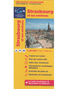 Map from Strasbourg and surroundings - Alsace- France