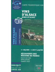 Map of the Alsace wine route - France